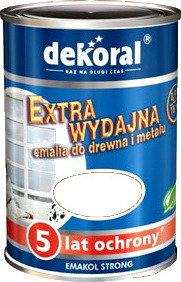 Dekoral Emalia Emakol Strong 5L Bia?y - Emalia Emakol Strong 5L debia5
