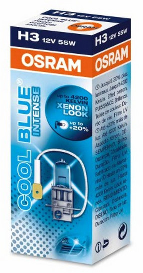 OSRAM H3 12V 55W PK22s COOL BLUER Intense