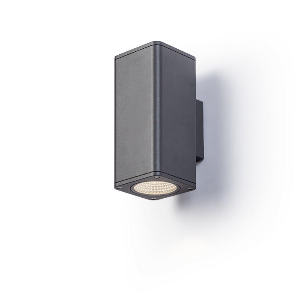 Redlux Rendl MIZZI SQ II Lampa ścienna antracyt 230V LED 2x12W IP54 3000K R11965) Rendl