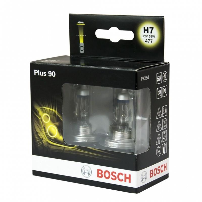 Bosch Castrol plus 90 H7 12v 55W 477 dwie sztuki plus 90 H7 12v 55w477 dwie sztuki