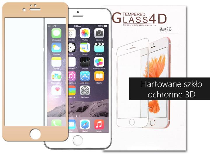 Etuo.pl szkło - Apple iPhone 6 Plus - szkło hartowane 3D - złoty FOAP139TG3DGLD000