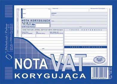 MICHALCZYK&Prokop Faktura VAT- nota korygująca A5