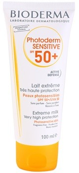 Bioderma Photoderm SPF50+  Sensitive mleczko do opalania do skóry wrażliwej SPF50++ For Face And Body 100 ml