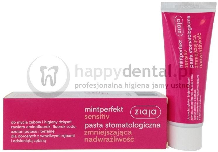 Ziaja MINTPERFECT SENSITIVE pasta 75ml - pasta do zębów zmniejszająca objawy nad