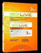 Microsoft Xbox Live Gold 3