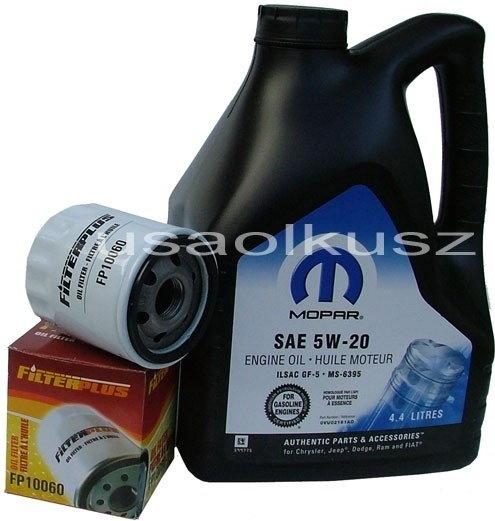 MOPAR & ATLAS Olej 5W20 oraz filtr oleju silnika Chrysler 300C 2,7 V6 2009