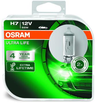 OSRAM H7 12V 55W PX26d ULTRA LIFE (3 lata gwarancji)