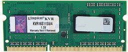Kingston 4GB 1600MHz DDR3 Non-ECC CL11 SODIMM SR X8 KVR16S11S8/4