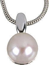 Tyfanit Prosty wisiorek srebrny z perłą A337