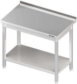 Stalgast Stół przyścienny z półką W1000xD700xH850 mm (opcja szuflada, 980047100