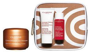 Clarins Zestaw upominkowy Delicious Self Tanning Cream 125 ml + Exfoliating Bosy Scrub 30 ml + Body Lift Cellulite Control 30 ml