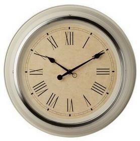 IKEA Beżowy stylowy zegar ścienny 902.376.54
