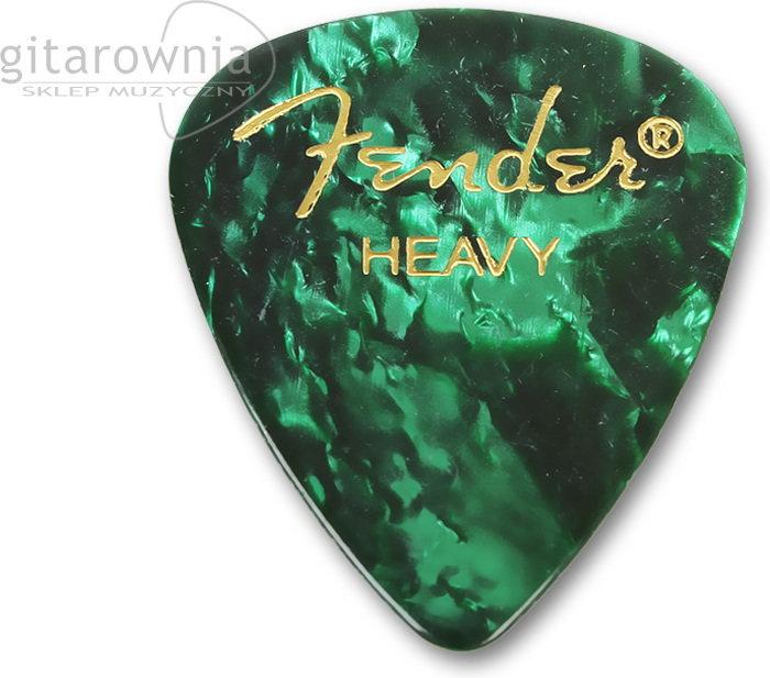 Fender kostka gitarowa Premium Celluloid 351 Green Moto - Heavy 0980351971