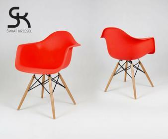 Świat Krzeseł KR012F CZERWONE krzesło fotel MONDI Eames Eiffel