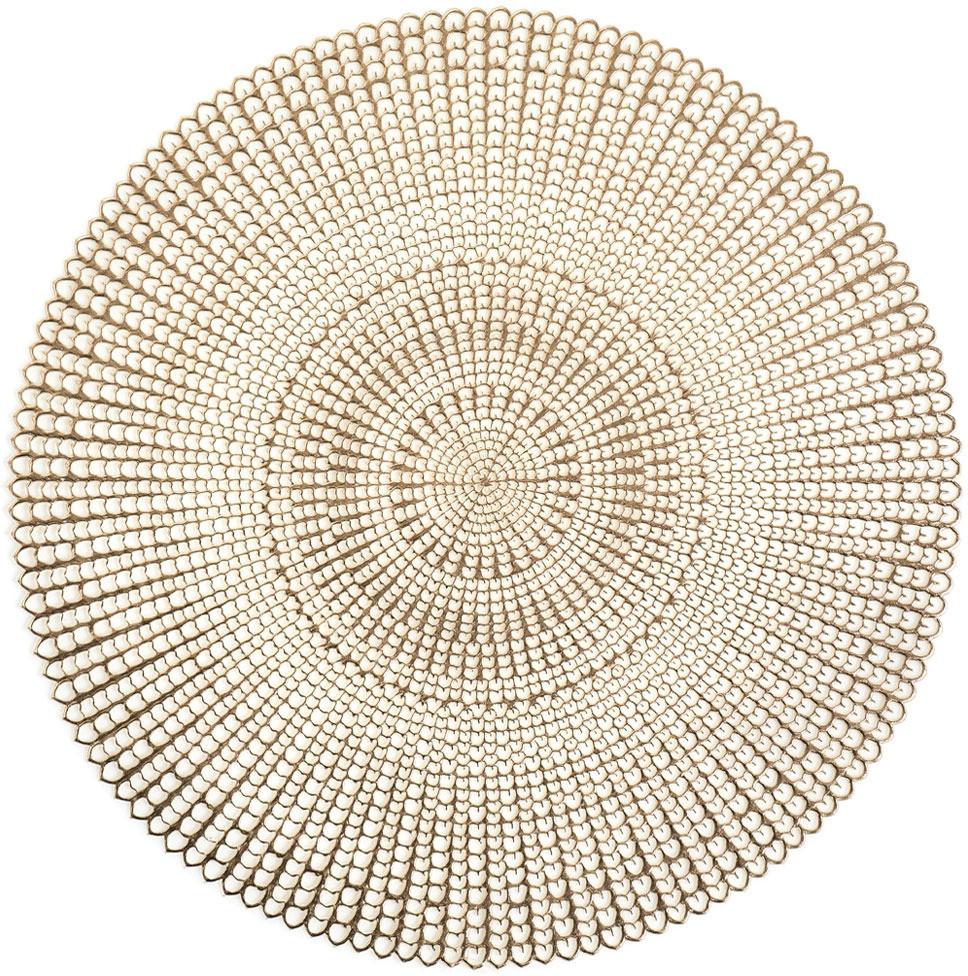 Zeller Podkładka ochronna dekoracyjna mata na stół kolor złoty 41 cm 26818