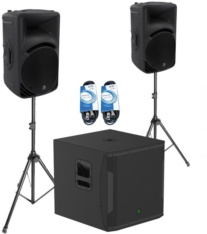 Mackie 2x SRM450 V3 +SRM1850 - zestaw aktywny + akcesoria