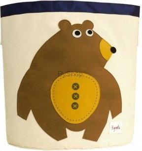 3Sprouts Kosz na zabawki Niedźwiedź 3SSBBE