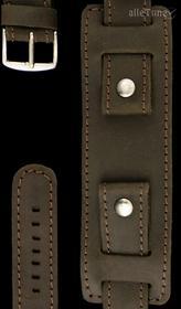 Pasek do zegarka brązowy - podkładka - 22 mm