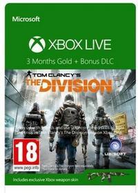 Microsoft Doładowanie Xbox Live Gold The Division (3 m-ce 52K-00280