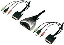 Digitus Przełącznik DVI USB audio mikrofon DC-11802 podwójny 1920 x 1080 px