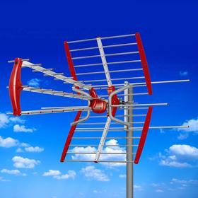 Maclean Antena zewnętrzna TV DVB-T aktywna MCTV-905 A VHF/UHF MUX8