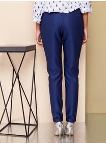 GrandUA Klasyczne spodnie z wysokim stanem GR1485 Blue