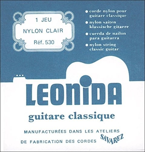 Savarez savarez naciągi gitara klasyczna leonida 530komplet Nylon Blank, Bass posrebrzany drut miedziany Normal Tension 530