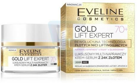 Eveline Gold Lift Expert 70+ Luksusowy multi naprawczy krem serum do twarzy