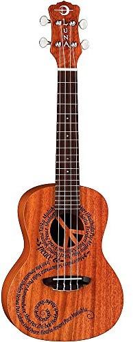 Luna Guitars Luna Malu koncertowe Ukulele z torba do przechowywania GTSUKEMALU