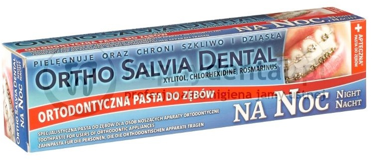 Atos ORTHO SALVIA DENTAL Fluor (Noc) 75ml - PASTA na noc dla osób noszących apar