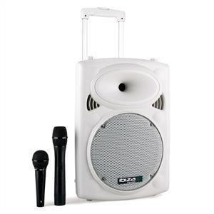 Ibiza PORT10VHF-BT Przenośna kolumna nagłośnieniowa USB-SD-MP PORT10VHF-BT-WH