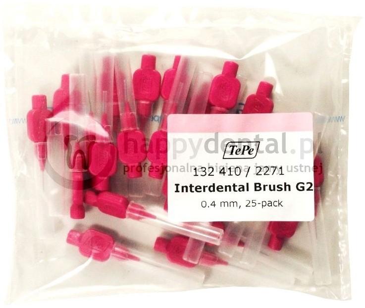 TePe ID Original (0.40mm) różowe 25szt. - zestaw szczoteczek międzyzębowych (szc