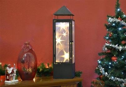 Latarnia z oświetleniem LED 3D na baterie - Lampion świąteczny - 70 cm