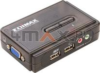 Edimax -Technology EDIMAX (EK-UAK2) Przełącznik KVM 2xUSB AUDIO+MIC 2 x 1.8M ka