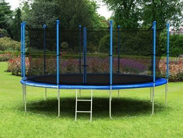 Hop-Sport Trampolina ogrodowa z siatką wewnętrzną 427 cm