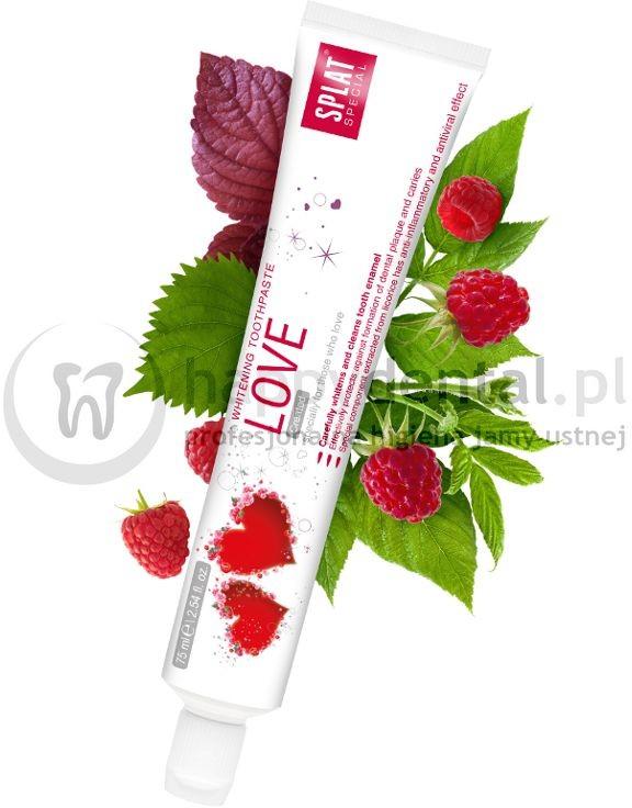 Splat Kosmetika SPLAT Limited-Special LOVE 75ml - malinowa pasta wybielająca z lukrecją stworzona specjalnie dla zakochanych (WERSJA DLA ZAKOCHANYCH)