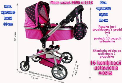 Super-Toys Wózek 16 funkcyjny 9695