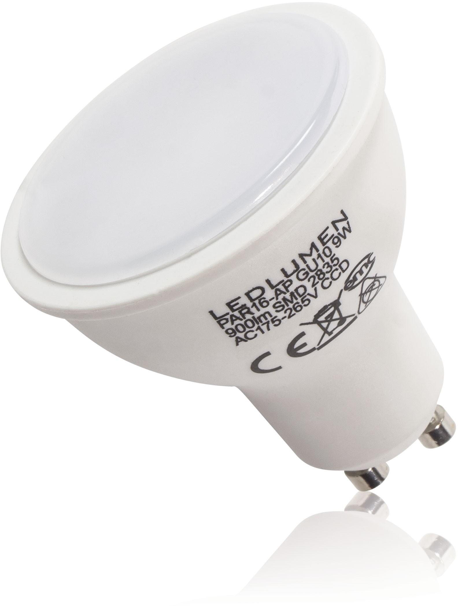 LEDlumen Żarówki LED GU10 9W 900 lm 251090221