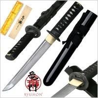 Ryumon Black Handmade Damascus Tanto RY-3045