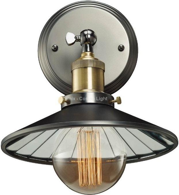 Cosmo Light Lampa ścienna, Kinkiet ROTTERDAM (W01161BKMIR)