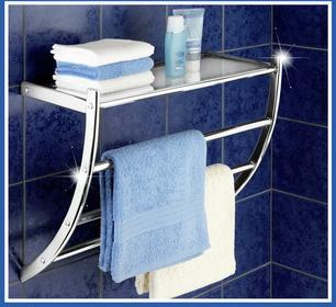 Wenko Wieszak na ręczniki PASCARA + półka łazienkowa, 2 w 1 5A1