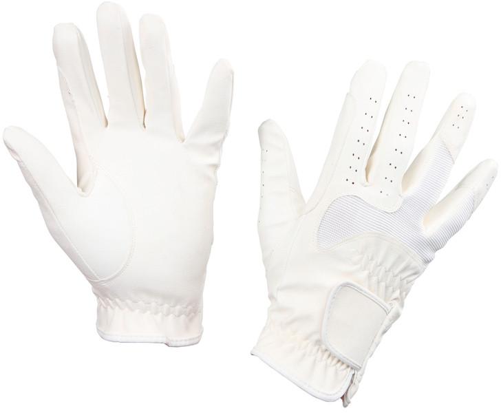 Rękawiczki jeździeckie Gloria, białe, roz. S