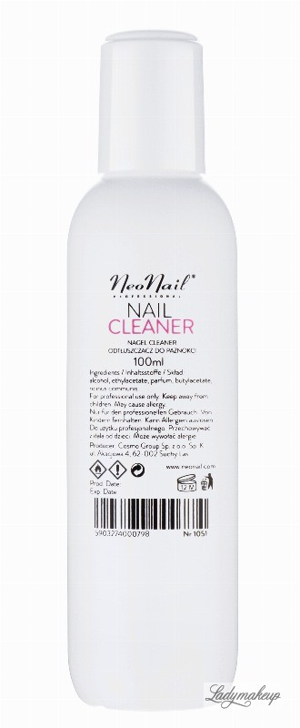 Neonail NAIL CLEANER - Odtłuszczacz do paznokci - 100 ml - ART. 1051 NN1051