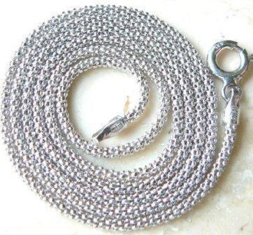 Lancuszek koreanka białe srebro 70 cm