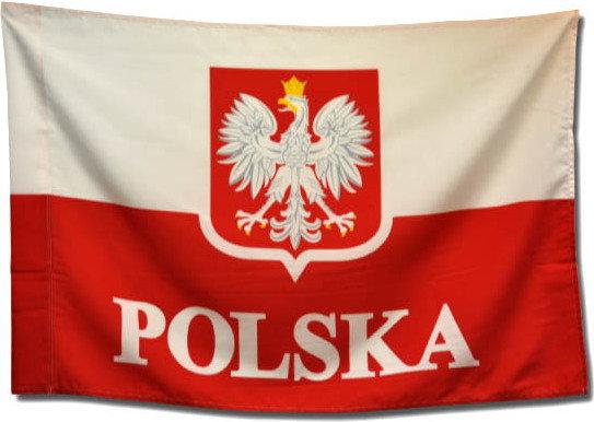 Opinie o Flaga narodowa z orłem 150x90 cm