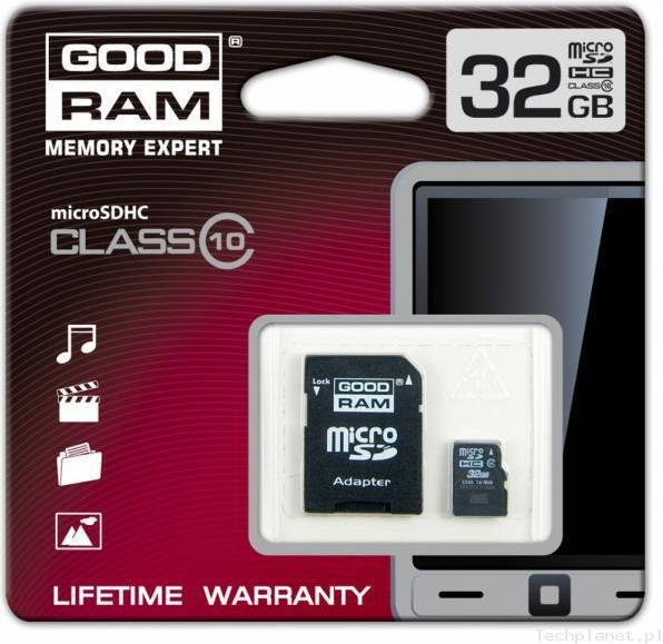 Goodram MicroSDHC 32 GB Class 10+ Adapter (SDU32GHC10AGRR9)