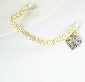 Bransoletka i kolczyki - kolor srebrny