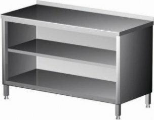 Polgast Stół nierdzewny przyścienny szafka otwarta 1300x700x850 (h) 129137
