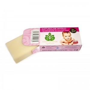 Mydlarnia Powrót do natury 100 % Roœlinne mydło hipoalergiczne dla niemowlšt 100 g 3843-802BE