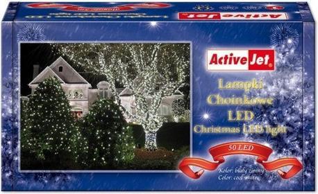ActiveJet Lampki choinkowe 50LED AJE-CL505CO białe zimne zew
